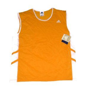 New Adidas Gold Yellow Tank Running 1998 Vintage